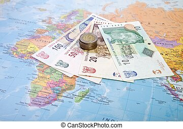 Rands, South Africa - Rands notes and coins, South Africa