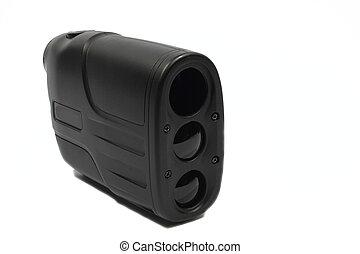Ranegfinder - Isolated black plastic rangefinder used for...