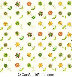 rangées, griffonnage, oblique, seamless, fond, floral, fleurs