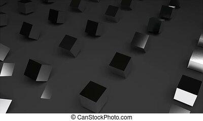 rangées, render, cubes, résumé, moderne, engendré, informatique, fond, surface, 3d