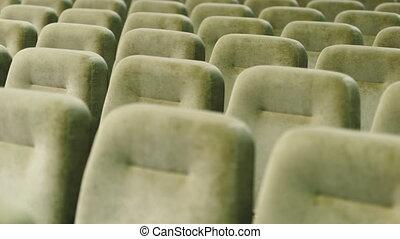 rangées, théâtre, vide, sièges