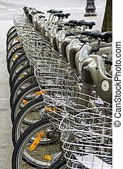 rang, de, bicycles