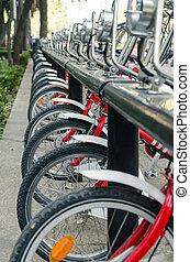 rang, de, public, bicycles