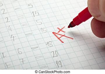 rang, een, examen, wiskunde, school, opleiding