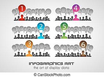 rang, statistik, modern, style., ideal, infographic, design...