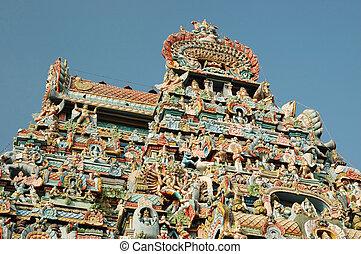ranganathaswamy, meridional, sri, -, (srirangam), uno, complexes, herencia, mundo, más grande, religioso, templo, india.it