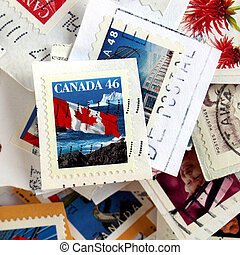 Range of Canadian postage stamps from Canada