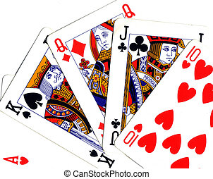 range of playing cards (scale)
