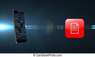 rangement, documents, information, important, téléphone., internet