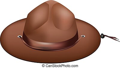 Ranger attribute - hat - Ranger attribute - a hat with wide...