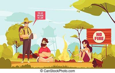 ranger foresta, fondo