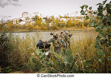 rangers, é, capturado, terrorista, lugar, evacuação