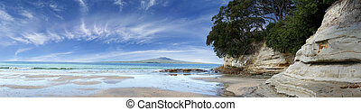 Rangitoto Island in the Hauraki Gulf, Auckland, New Zealand.
