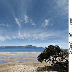 Rangitoto Island in the Hauraki Gulf, Auckland, New Zealand