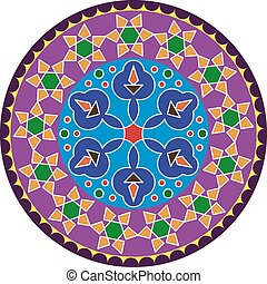 Rangoli Ornamental Design Vector Art