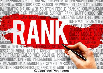 RANK word cloud, business concept