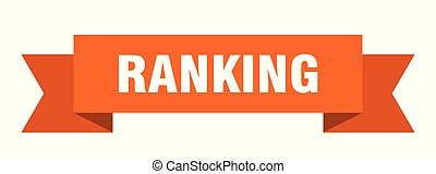 ranking ribbon. ranking isolated sign. ranking banner
