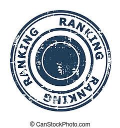 Ranking SEO concept stamp