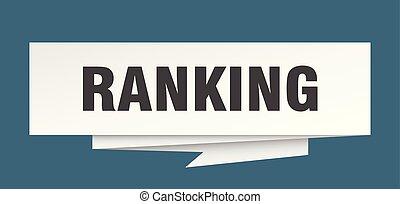 ranking sign. ranking paper origami speech bubble. ranking...