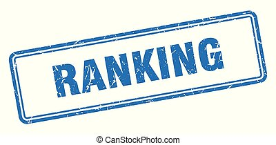 ranking stamp. ranking square grunge sign. ranking