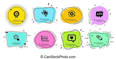 Ranking star, Eco energy and Certificate icons set. Love ...