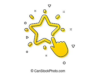 Ranking star icon. Click rating sign. Best rank. Vector