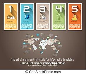 ranking, statistica, moderno, style., ideale, infographic, disegno, template., originale, mostra, informazioni