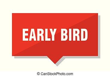 ranní ptáče, červené šaty opatřit poutkem