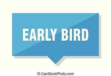 ranní ptáče, cenovka