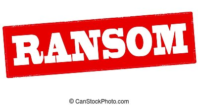 Rubber stamp with word ransom inside, vector illustration