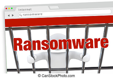 Ransomware Computer Virus Hacking Internet Crime Website 3d Illustration
