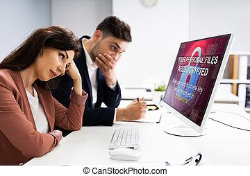 Ransomware Cyber Attack Using Malware