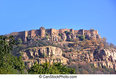 Ranthambore fort in Rajasthan, India