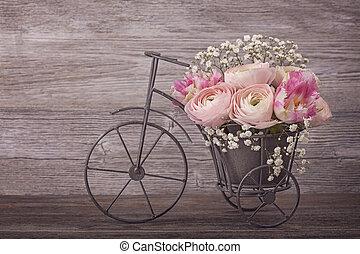 ranunculus, blomningen