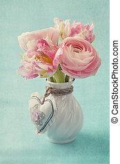 ranunculus, und, tulpen