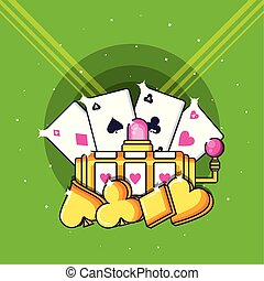 ranura, póker, casino, máquina, juego, tarjetas