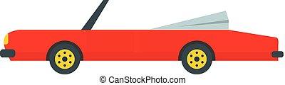 Rap american car icon, flat style - Rap american car icon....