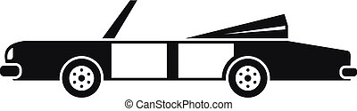 Rap american car icon, simple style - Rap american car icon....