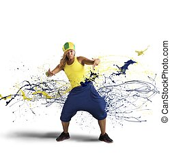 rap, bailarín