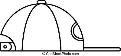 Rap cap icon, outline style