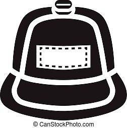 Rap cap icon, simple style