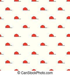 Rap cap pattern seamless vector