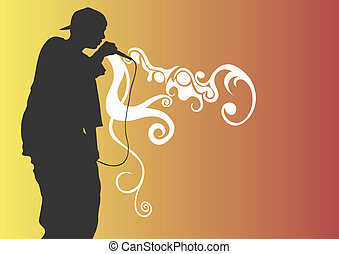Illustration of a rap singer