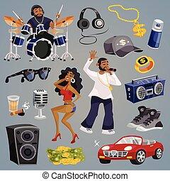 Rap Music Elements - Rap music and hip-hop style elements...