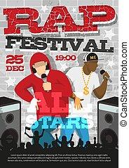 Rap Music Festival Announcement Poster