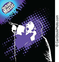 Rap Music Illustration - rap music illustration performer...