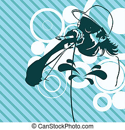 Rap Music Illustration - rap music illustration performer...