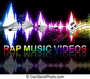 Rap Music Videos Means Rhyming Song Multimedia - Rap Music...