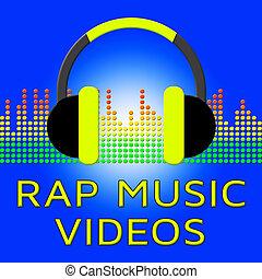 Rap Music Videos Means Spoken Songs 3d Illustration - Rap...