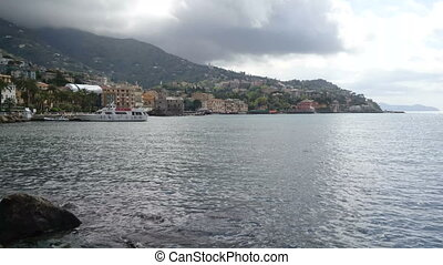 Rapallo seen from the promenade